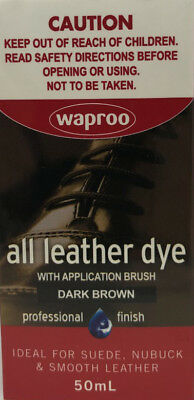 DARK BROWN WAPROO ALL Leather Dye -AU SELLER - For Leather & Suede - FREE SHIP