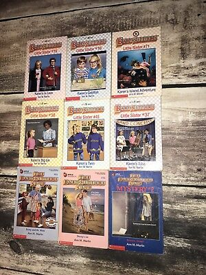 Lot of 9 The Babysitters Club & Little Sisters Books Chapter Books ANN Martin