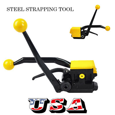 USA Manual Strapping Tool Sealless Combo Combination Tools Steel Straps 13-19mm