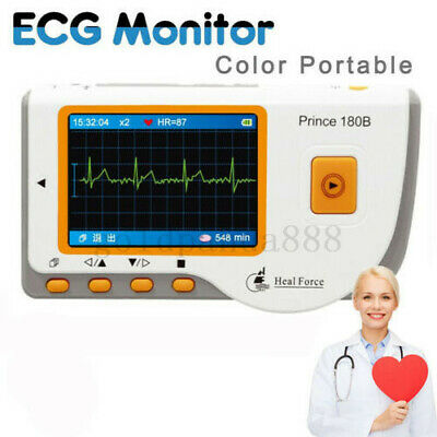 HEAL FORCE PRINCE 180B Handheld Easy ECG EKG Portable Heart Monitor+ECG Cable