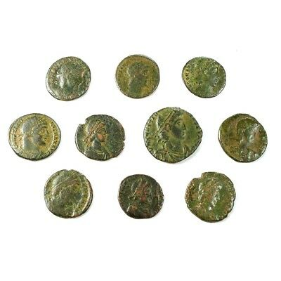 Ten (10) Nicer Ancient Roman Coins c. 100 - 375 A.D. Exact Lot Shown rm3516