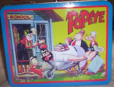 Popeye Metal Lunch Box Good Condition  Hearst Corp.  1999