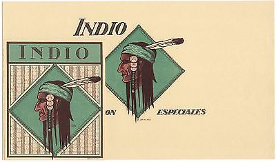 Cigar Box Label Vintage Set C1915  Indio Indian Native American Arts & Crafts