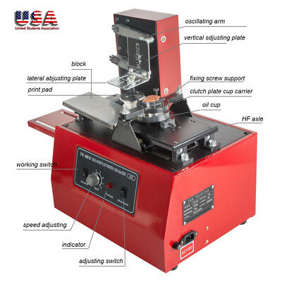 110V Pad Printer Machine & Printing Components Logo Code Pen Printing Machine