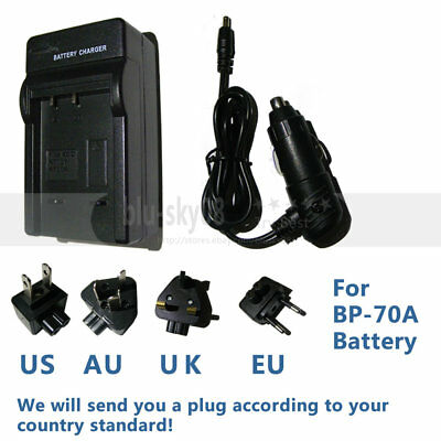 BP70A Battery Charger for Samsung DV150F ES65 ES70 ES80 MV800 PL120 PL170 SL630