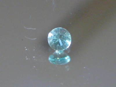 Emerald, Natural AUSTRALIAN EMERALD, Flawless 3mm round, FINE grade 0.11ct, RARE