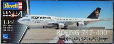 Revell Germany Boeing 747-400 Ed Force One Iron Maiden aircraft model kit 1/144