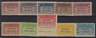 Macau 1947 Postage Due set of 10 hinged mint
