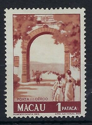 Macau 1950 1p red-brown View hinged mint
