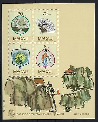 Macau 1987 Fans miniature sheet mint never hinged
