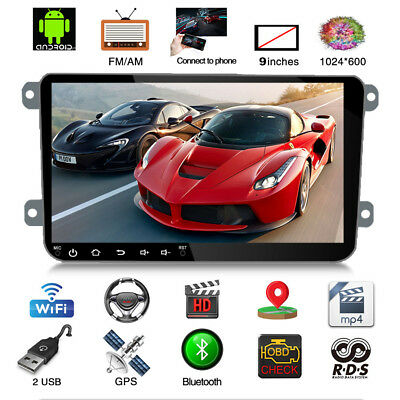 """9"""" Android 8.0 1080P GPS Navigation Car Stereo Radio Player 2 Din"""