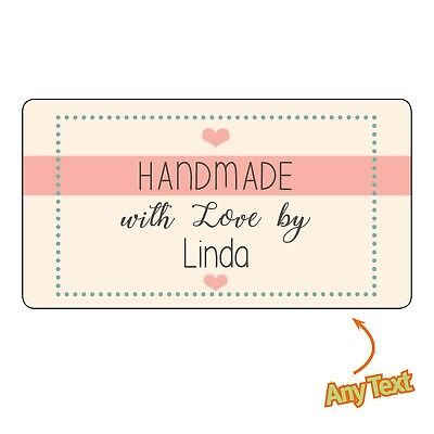 Personalised HANDMADE by.. Shop Shabby craft Vintage Labels Stickers - 1145