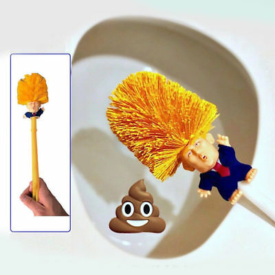 Donald Trump Toilet Bowl Brush Gag Novelty Political College Christmas Home Gift