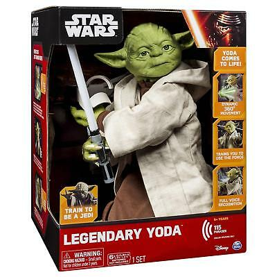 "NEW Star Wars Interactive 16"" Yoda ~ 115 Phrases Action Lightsaber Collectible"