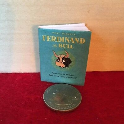 "1:6 scale Handmade miniature for 11""-12"" size dolls - Ferdinand the Bull book"