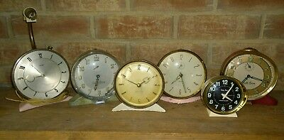 Collection of 6 Vintage Alarm Clocks Retro Display Shabby Chic