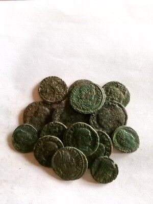054.Lot of 15 Ancient Roman Bronze Coins,Very Fine