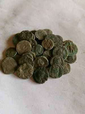 055.Lot of 35 Ancient Roman Bronze Coins,Uncleaned