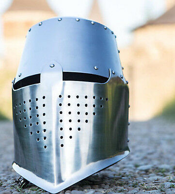 Medieval Armour Crusader Knights Templar Helmet Leather Liner Chritmas Gift War