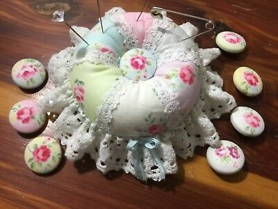 Cute as a Button HM pincushion with HM buttons!  Imagine that for you or gift