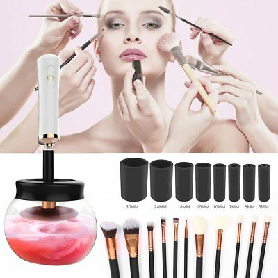 Electric Cosmetic Makeup Brush Cleaner Dryer Dry Kit Auto Cleaning Washing Tool