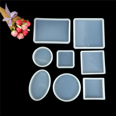 Square Round Silicone MouldHCIY ResinHCecorative Craft Jewelry Making Mold HC