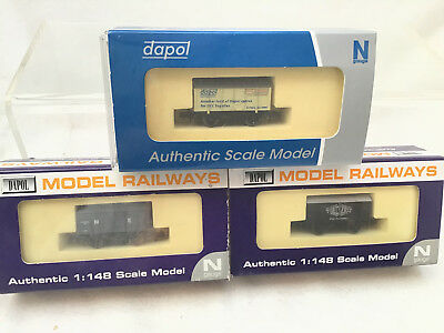 N GAUGE DAPOL JOB LOT OF 3x GUNPOWDER VANS - H&D MRC 1989-2014 / DAPOL DCC ETC