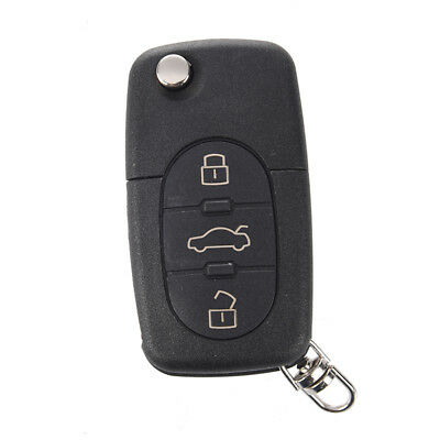 2X(Remote Key Case Fob Shell 3 Buttons Uncut Blade for AUDI A2 A3 A4 A6 A8  B6B5