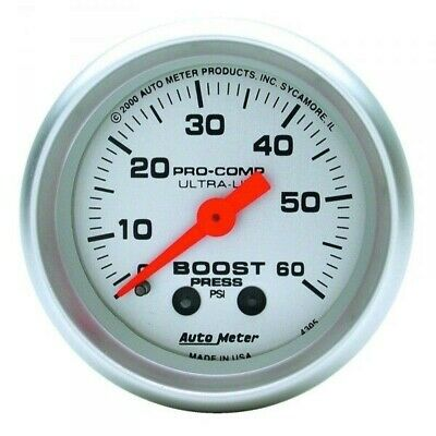 Auto Meter 4305 Ultra-lite Boost Gauge 0-60 Psi