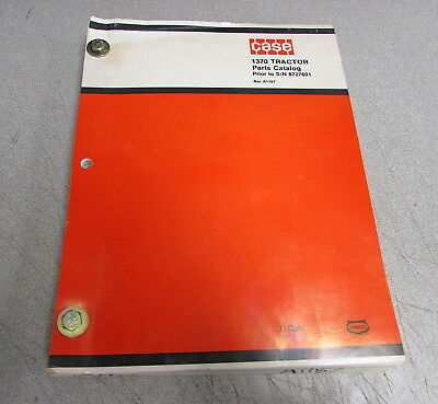 Case 1370 Tractor Prior to S/N 8727601 Parts Catalog Manual A1187 1974