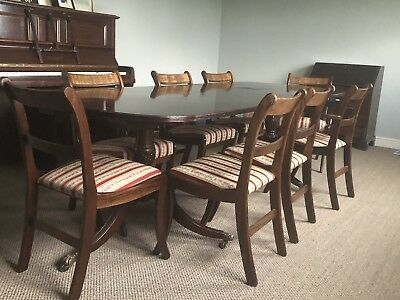Charming Reproduction Mahogany Dining Table with - 8 Chairs inc 2 Armchairs