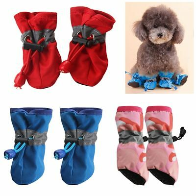 Pet Shoes Rain Snow Waterproof Booties Rubber Anti-slip For Small Dogs Puppies
