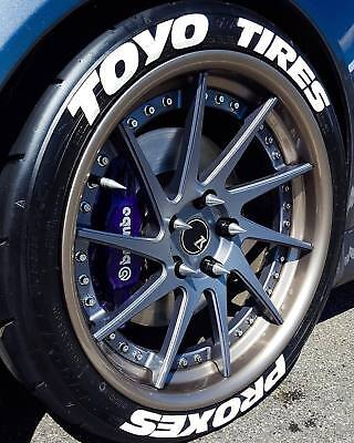 Tire Lettering toyo tires stickers kit-1.0'-15''16''17''18''19'20 (8 DECAL KİT)