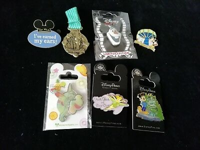 Disney trading collectionpins 7 pin lot tinker bell treasure mickey mouse