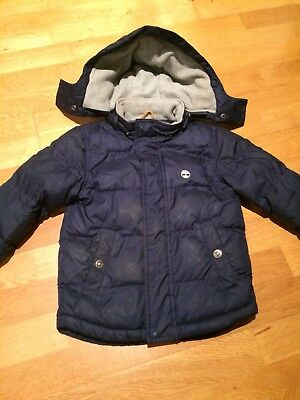Boys Navy Timberland Padded Coat Age 5