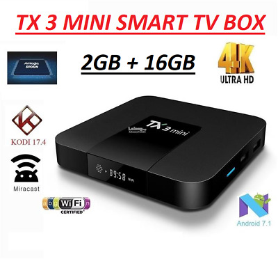 Android 7.1 Smart Tv Box TX3Mini 2GB 16GB Media Player Ultra HD WiFi 4K MXQ S905