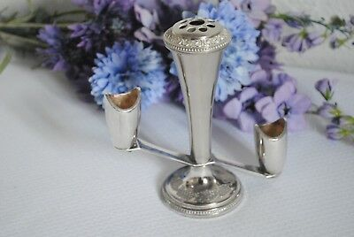 mid century candle holder sconce bud vase silverplate Grenadier-England