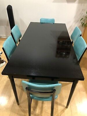 Mid-Century Modern Dining Table Set w/ 8 Chairs