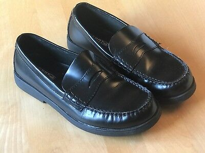 0b26b95b70d SPERRY Top Sider COLTON Boys Size 5.5 M Black Leather Penny Loafer Dress  Shoes
