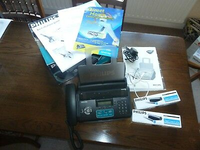 Philips Primo Magic 3 Facsimile (Fax) Machine with Two Philips Ink & Film Rolls