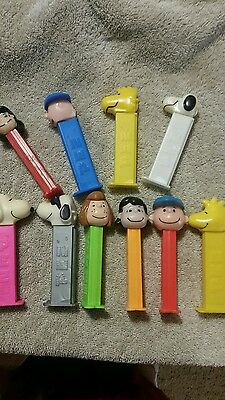 Peanuts Pez (10) series 1 & 2 Charlie-Lucy-Patty-Snoopy-Woodstock