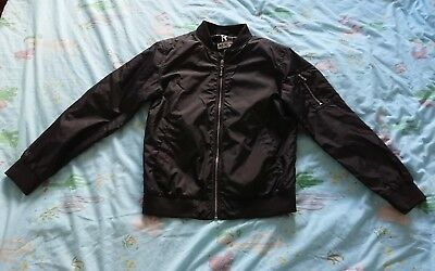 Boys Black Shower Proof Jacket Aged 12-13 Years