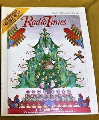 CHRISTMAS RADIO TIMES 17-30 December 1983 Xmas Special Double Issue Magazine