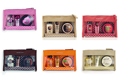 Body Shop Gift Set Delights Range Strawberry Coconut Rose Almond Milk Christmas