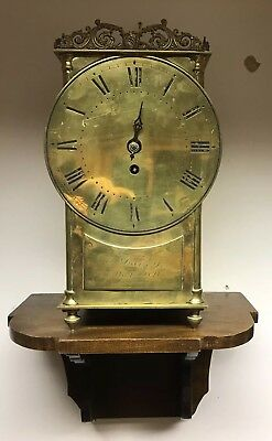 Early Lantern Clock. E.Davey, Yarmouth. Brass Case, Fusee Movement. With Brack