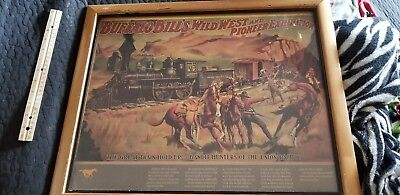"VINTAGE Classic Buffalo Bills Wild West Pioneer Exibition  22"" X 18"" Framed"