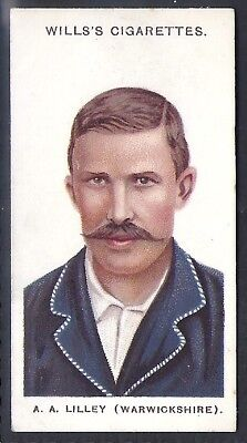 "WILLS-CRICKET ERS 1908 (SMALL ""s"")-#21- WARWICKSHIRE - LILLEY"