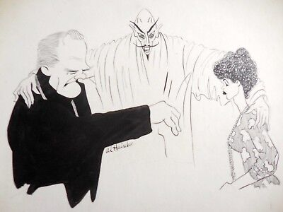 1959 Shake Hands with the Devil Al Hainke Orig Art James Cagney Dana Winter
