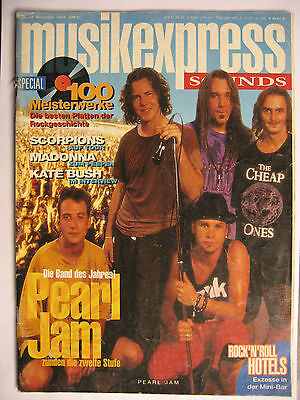 Musik Express Sounds 1993 # 11 - Pearl Jam Kate Bush Scorpions Madonna