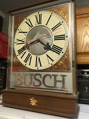 Lighted Busch Beer Bar Clock, gift ready a nice man cave clock , perfect gift
